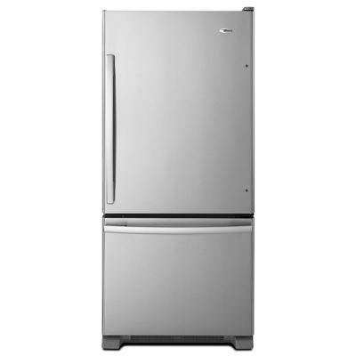 Amana 18.5 Cu. Ft. Stainless Steel Bottom-Freezer Refrigerator