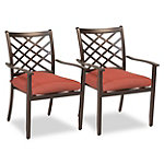 Agio Eden 2-Pack Outdoor Dining Chairs
