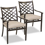 Agio Spring Hill 2-Pack Outdoor Dining Chairs