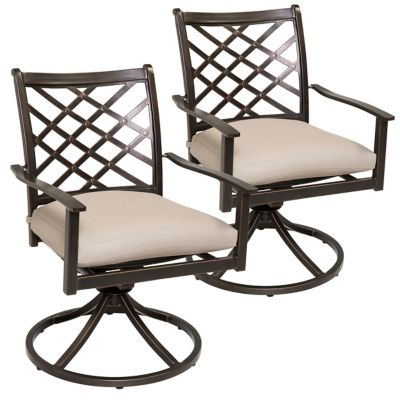 Agio Spring Hill 2-Pack Outdoor Swivel Rockers