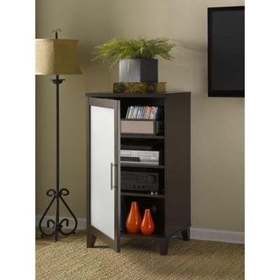 Bush Mocha Cherry Somerset Media Cabinet