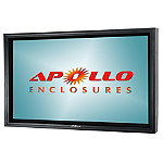 Apollo Outdoor Enclosure with Dual-Arm Articulating Wall Mount for TVs 50'-55'