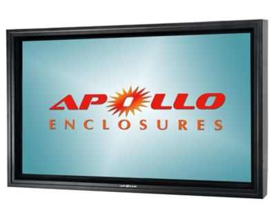 Apollo Outdoor Enclosure with Dual-Arm Articulating Wall Mount for TVs 50