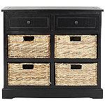 Safavieh Distressed Black Herman Storage Cabinet