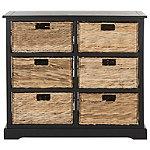 Safavieh Distressed Black Keenan Storage Chest