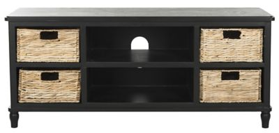 Safavieh Distressed Black Rooney TV Stand