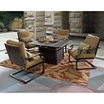Patio Logic Amherst 5-Piece Firepit Lounge Set