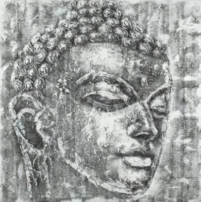 Safavieh Buddha Black and White Painting