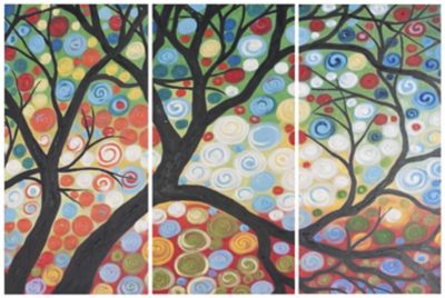 Safavieh Cherry Blossom Triptych Wall Art