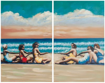 Safavieh Swim Competition Diptych Wall Art