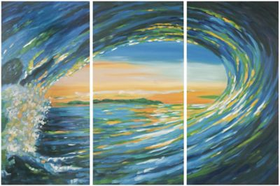 Safavieh Blue Grotto Triptych Wall Art
