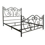 Bell'O Queen Dark Bronze No Tools Assembly Metal Bed