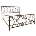 Bell'O King Elegant Bronze No Tools Assembly Metal Bed