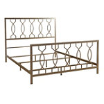 Bell'O Queen Elegant Bronze No Tools Assembly Metal Bed 317.99