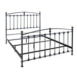 Bell'O Queen Dark Graphite No Tools Assembly Metal Bed