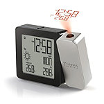 Oregon Scientific Silver Projection Clock with Indoor/Outdoor Temperature and Weather