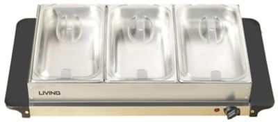 Nostalgia Living Collection™ 3-Station Buffet Server with Warming Tray