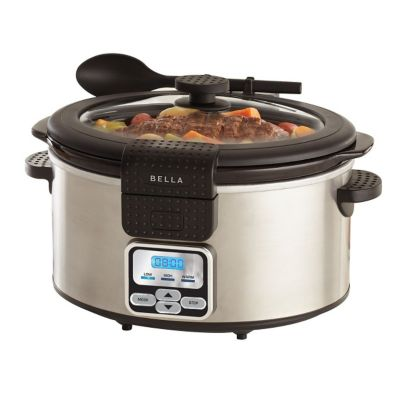 Bella 6-Quart Stainless Steel Portable Slow Cooker