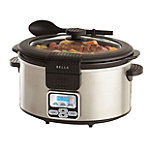 Bella 6-Quart Stainless Steel Portable Slow Cooker 49.99