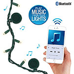 Innovative Technology Bright Tunes Indoor/Outdoor White 80 LED String Lights with Bluetooth Speakers