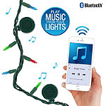 Innovative Technology Bright Tunes Indoor/Outdoor 80-Multi-Colored Incandescent String Lights with Bluetooth Speakers