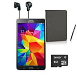 Samsung 8GB 7' Black Galaxy Tab 4 with Folio, Stylus, Earbud Headphones and 8GB micro SD Card 222.99