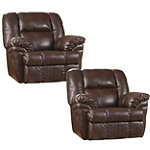 Berkline DuraBlend® Brindle Rocker Recliner Pair 688.00
