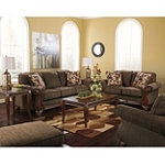 Berkline Rangeline Collection Transitional Sofa, Loveseat, Chair and Ottoman