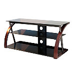 TechCraft Solid Wood and Glass Stand for TVs Up to 52' or 80 lbs.