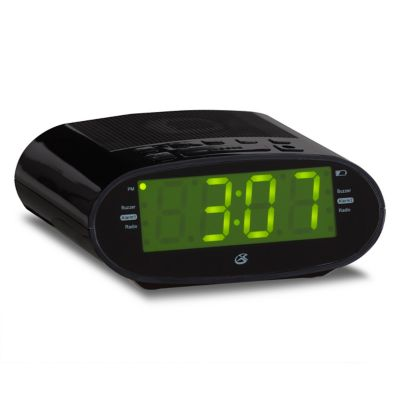 GPX Clock Radio with USB Charging