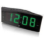 GPX 1.8' LED Green Display AM/FM Clock Radio