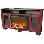 Cambridge Mahogany Savona Fireplace Mantel with Electric Fireplace Insert