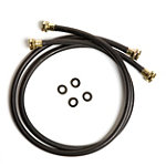 Petra 5' Black Rubber Washing Machine Connector 2-Pack