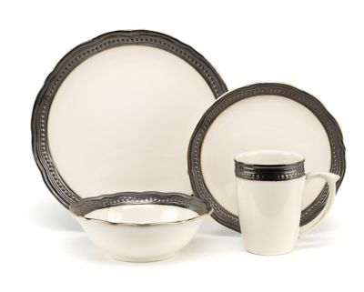 Cuisinart Jenna 16 Piece Cream Dinnerware Set