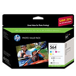 HP 564 Series 3-Ink / 85-Sheet Paper Value Pack 32.99