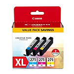 Canon CLI-271XL 3-Pack CMY Ink Cartridges