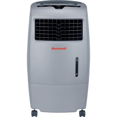 Honeywell 52-Pint Indoor/Outdoor Evaporative Air Cooler with Remote Control, Grey