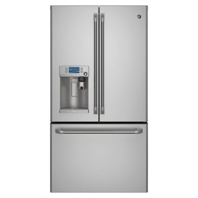 GE 22.2 Cu. Ft. Stainless Steel Counter-Depth French Door Refrigerator with Keurig K-Cup® Brewing System