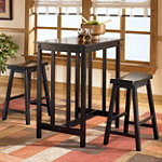 Home Solutions Counter-Height Pub Table and 2 Bar Stools No price available.