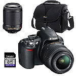 Nikon D-SLR Camera with 18-55mm Zoom Lens, Case and 8GB SD Card 714.88