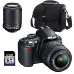 Nikon D-SLR Camera with 18-55mm Zoom Lens, Case and 8GB SD Card
