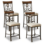 Ashley Upholstered Chairs Set of 4 270.00