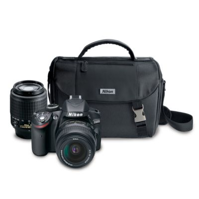 Nikon 24.2 Megapixel Digital SLR Camera with 18-55mm Lens, 55-200mm Lens and Case