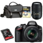 Nikon D-SLR Camera with 2 Lenses, Starter Kit and 8GB SD Card