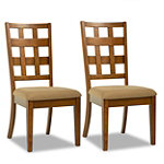 Home Solutions Black Walnut Kitchen Chair Set of 2 99.95