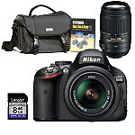 Nikon D-SLR Camera with 2 Lenses, Starter Kit and 8GB SD Card 1079.92