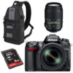 Nikon D-SLR Camera with 2 Lenses, Bag and 8GB SD Card