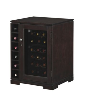 Tresanti Merlot Dual-Zone Wine Cooler with Side Cubby Storage