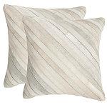 Safavieh White Cherilyn Pillows Set of 2