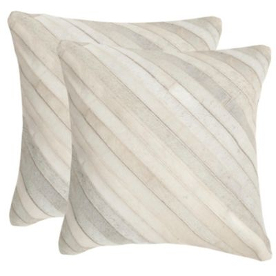 Safavieh White Cherilyn Pillows Set of 2